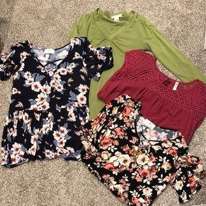 Lot of 4 shirts Medium